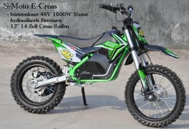 elektro kinder motocross 48v 1600w lithium akku 10 12. Black Bedroom Furniture Sets. Home Design Ideas