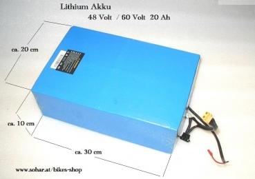 lithium akku 48 60 volt 20 ah motocross kindermotorrad. Black Bedroom Furniture Sets. Home Design Ideas