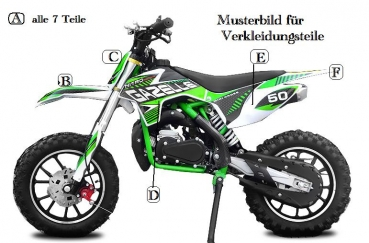 verkleidung dirt bike gazelle motocross kindermotorrad. Black Bedroom Furniture Sets. Home Design Ideas