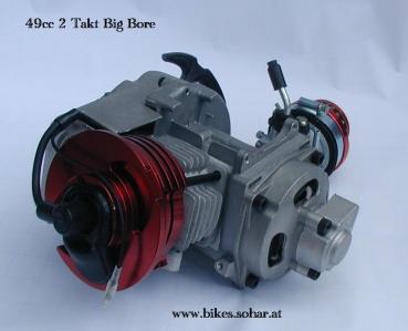 49cc 2 takt motor big bore mit tuning vergaser motocross. Black Bedroom Furniture Sets. Home Design Ideas