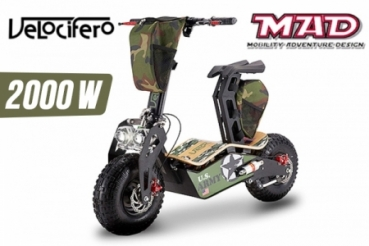 elektro scooter velocifero mad 60 volt 2000 watt lithium. Black Bedroom Furniture Sets. Home Design Ideas