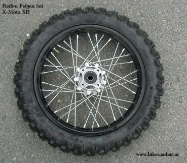 felge reifen xb33 125cc 14 zoll motocross kindermotorrad. Black Bedroom Furniture Sets. Home Design Ideas