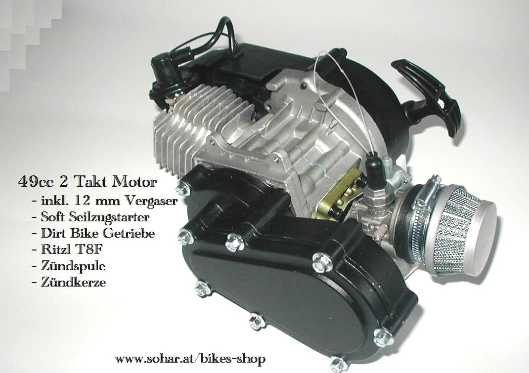 49cc 2 Takt Motor Soft Seilzugstarter Dirt Getriebe - Motocross ...