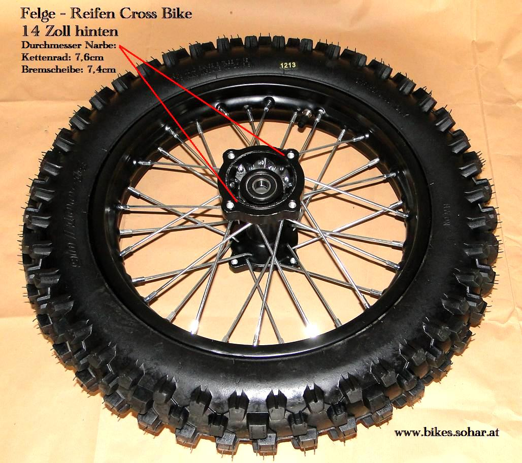14 Zoll Schlauch 90//100-14 90//100//14 Dirtbike Pit Bike Cross Dirt Bike Crossbike