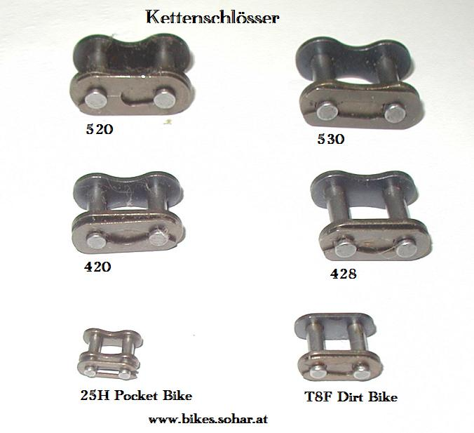 kettenschloss pocket bike dirt bike 420 428 520 530. Black Bedroom Furniture Sets. Home Design Ideas