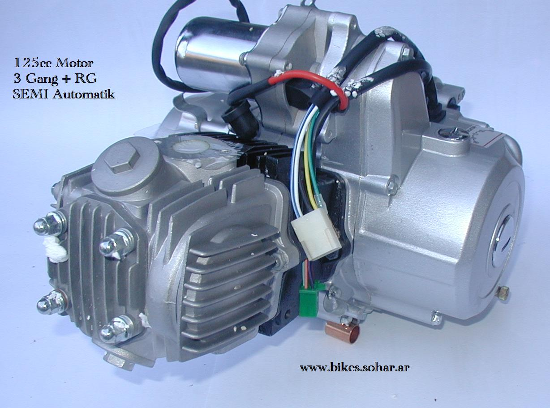 4 takt motor 125cc semi automatik f r quads und. Black Bedroom Furniture Sets. Home Design Ideas