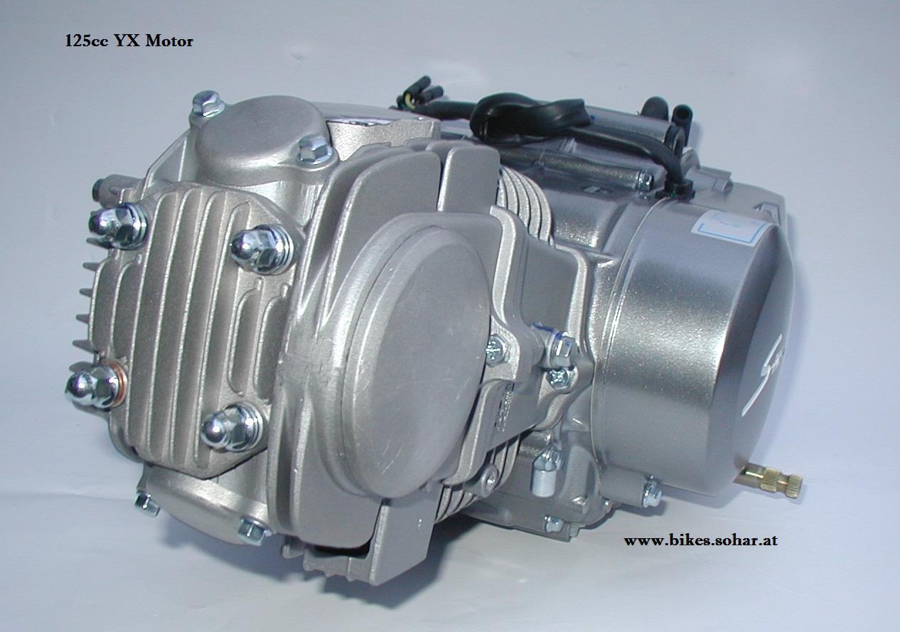 4 Takt Motor YX 125cc 4 Gang - Motocross Kindermotorrad Pit Dirt ...