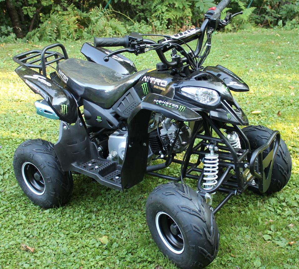 125cc 4 takt quad nitro razer 6 zoll automatik motocross kindermotorrad pit dirt bike quad. Black Bedroom Furniture Sets. Home Design Ideas